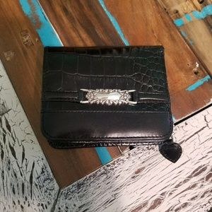 Brighton Small Black Leather Wallet